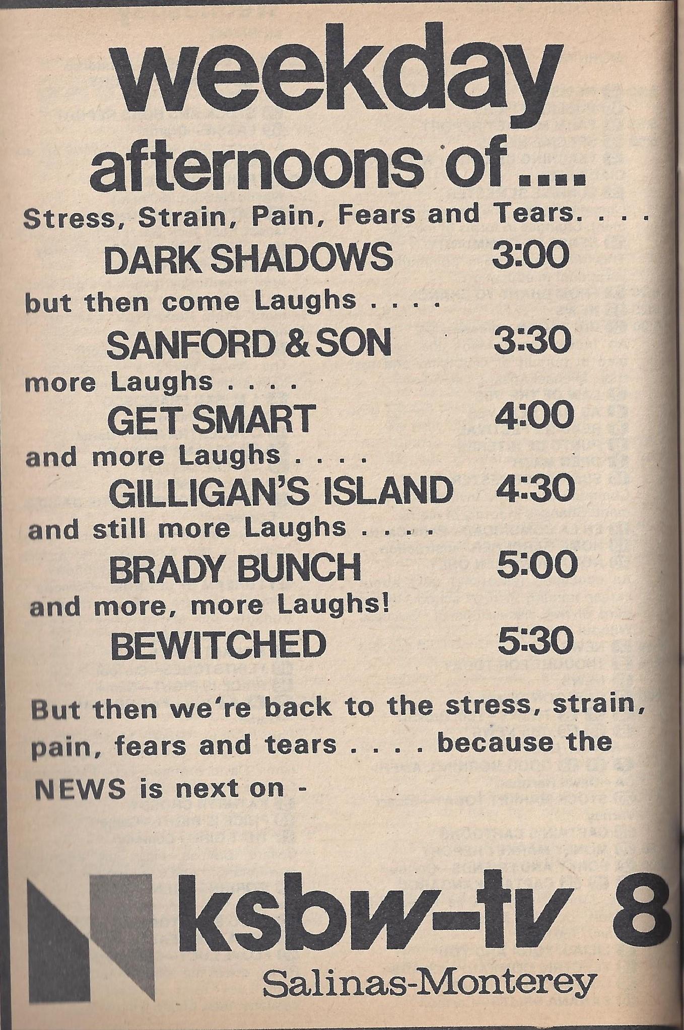 1976 KSBW-TV ad in TV Guide | Santa Cruz Blogazine