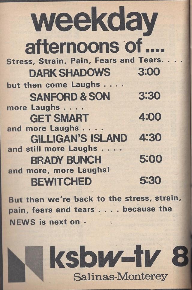 TV Guide Ad 1976, KSBW-TV