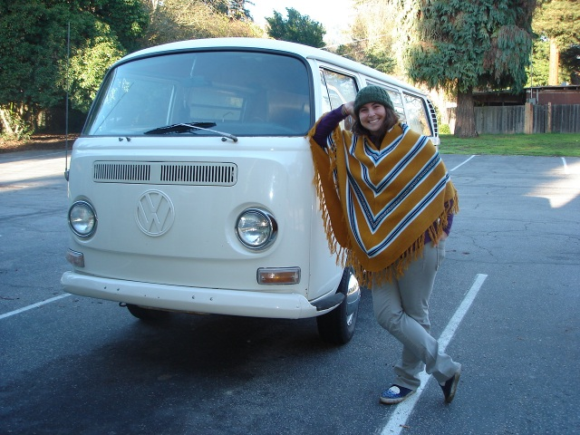 Laura and her 1968 VW bus, Delilah