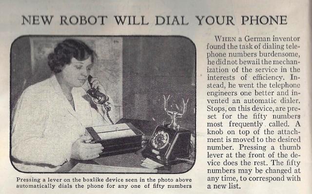 Robot Phone Dialer, Circa 1932
