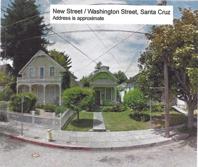House on Washington St Santa Cruz where Eliza Jane lived in 1900.