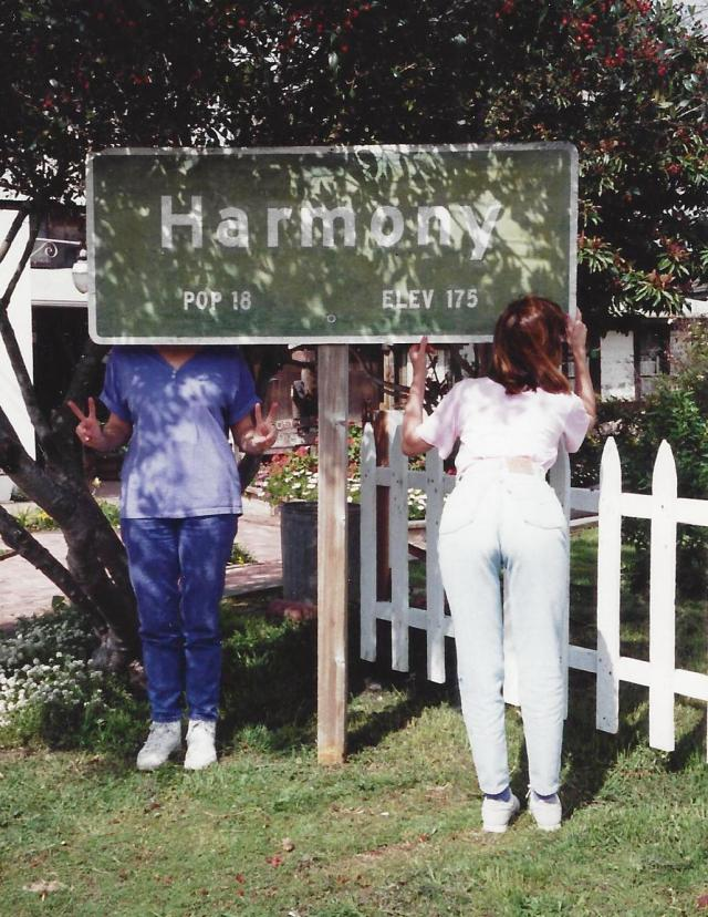 Me and my sister in Harmony, California 1992
