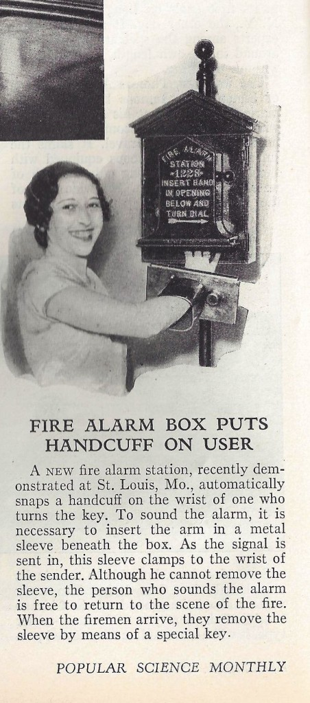 1932 Fire Alarm Box invention.
