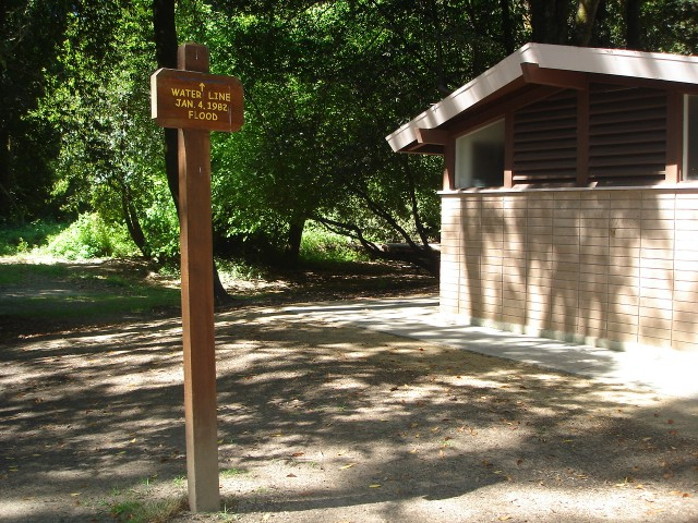 Sign located at picnic ground near restroom, Henry Cowell Park, Felton.