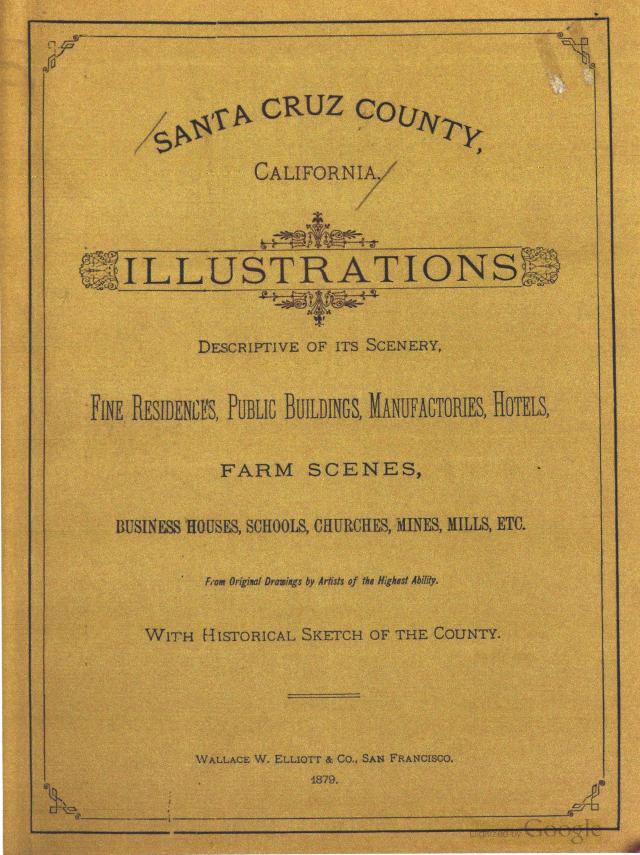 "Front page of 1879 book ""Santa Cruz County, California."""