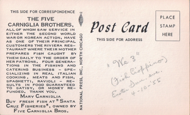 1955 Five Brothers postcard.