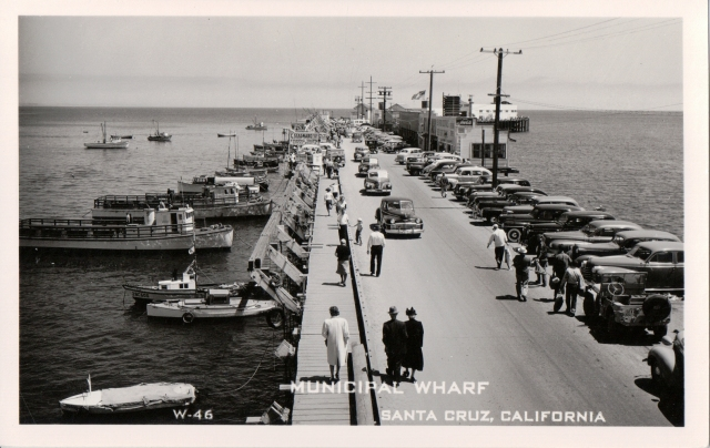 Santa Cruz Municipal Wharf circa 1940's. Courtesy of Santa Cruz Public Library, Special Collections.