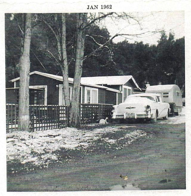 1962 Snow at Grandma's house 211 Arden Ave. Ben Lomond. Photo courtesy Wees Family.