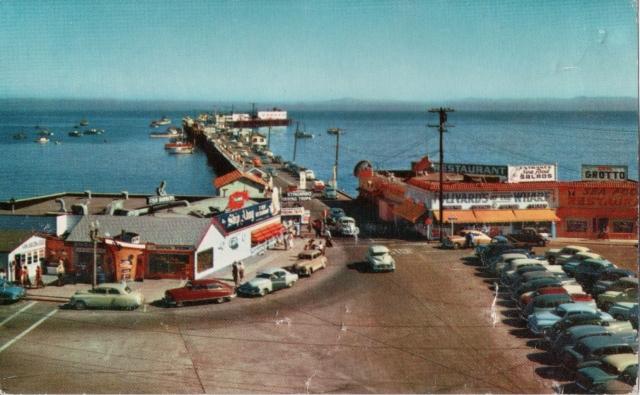 Santa Cruz Fisherman's wharf circa 1940's.