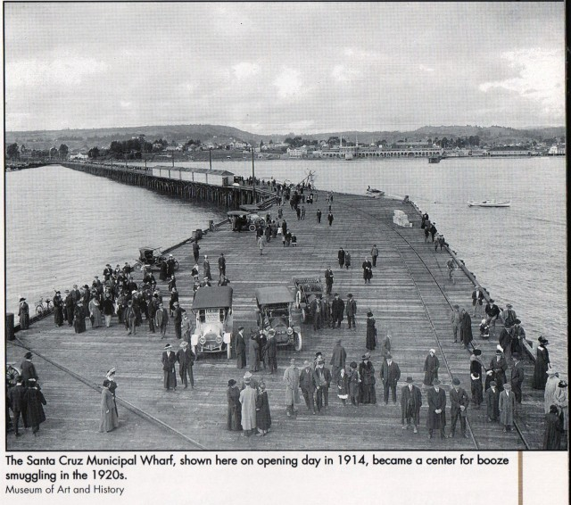1914 Santa Cruz Wharf Opens. Courtesy of Santa Cruz Museum of Art and History.