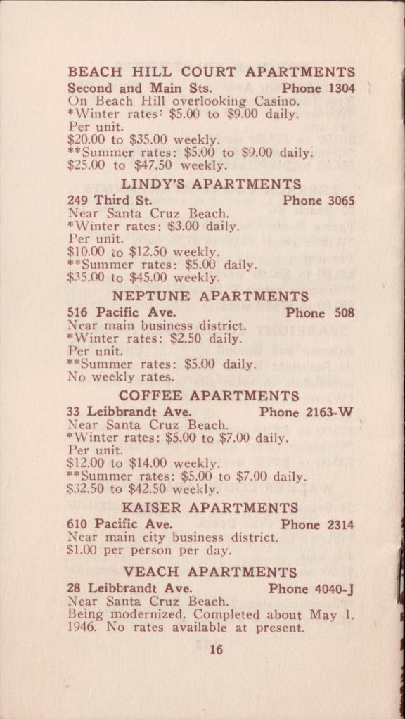 Rates 1946 Santa Cruz