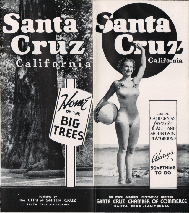 circa 1940's Santa Cruz Chamber of Commerce Brochure, Courtesy SCPL Special Collections.