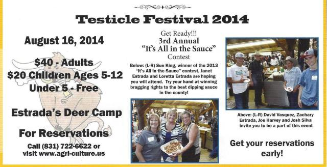 Testicle Festive 2014 Santa Cruz, California